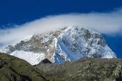 Huascaran bergskedja Arkivbild