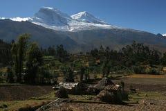 Huascaran, hoogste piek in Peru Stock Foto