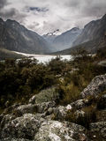 Huascaran Lake And Rocks Royalty Free Stock Images