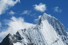 Huascaran mountain peak royalty free stock image