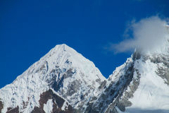 Huascaran mountain range Royalty Free Stock Photos