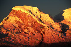 Huascaran nå en höjdpunkt Arkivfoto