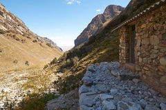 Huascaran National Park. Stone hut in the Llaca valley in the Peruvian Andes, South America Royalty Free Stock Image