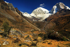 Huascaran Norte Peak royalty free stock photography