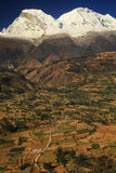 Huascaran Peak in Cordiliera Blanca Royalty Free Stock Photography