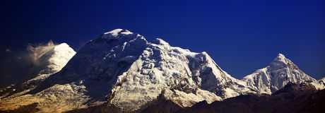 Huascaran Peak in Cordiliera Blanca royalty free stock images