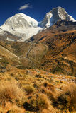Huascaran Peak in Cordiliera Blanca Stock Images