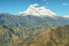 Huascaran peak, Peru. Huascaran peak 6768m in Peru Stock Photo