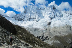 Huascaran snöberg Royaltyfri Fotografi