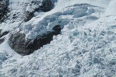 Huascaran snow mountain glaciar Royalty Free Stock Photos