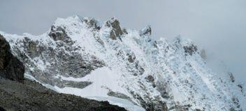 Huascaran snow mountain glaciar Royalty Free Stock Photography