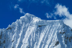 Huascaran snow mountain Stock Photo