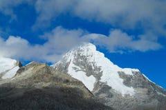 Huascaran snow mountain Royalty Free Stock Photos