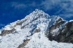 Huascaran snow mountain peak Stock Photography