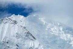 Huascaran snow mountain range Royalty Free Stock Image