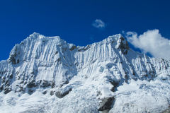 Huascaran snow mountain range Royalty Free Stock Images