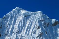 Huascaran snow mountain range Royalty Free Stock Photos