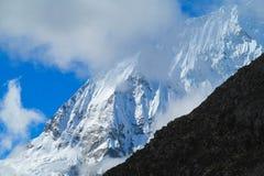 Huascaran snow mountain range Stock Photo