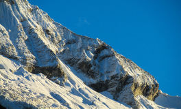 Huascaran snow mountain range Stock Images