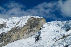 Huascaran snow mountain top Royalty Free Stock Photography
