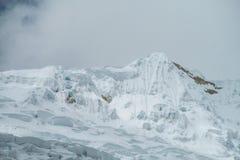 Huascaran snow mountain top Stock Images