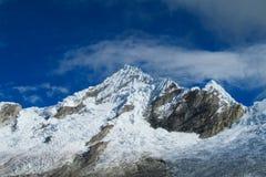Huascaran snow mountain top Royalty Free Stock Image