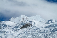 Huascaran snow mountain tops Stock Photos