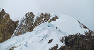 Huascaran snow mountain tops Royalty Free Stock Images
