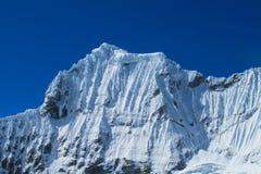 Huascaran snow mountain tops Stock Photography