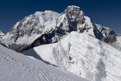 Huascaran summit. Huascaran (6768 m), highest mountain in Peru Royalty Free Stock Photography