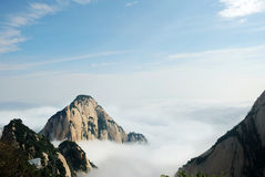 Huashan mountain in the cloud Stock Photos