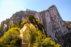 Huashan(Mountain Huashan)-Overlook west peak Stock Photography