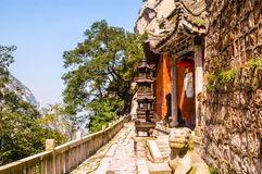 Huashan(Mountain Huashan)-Taoist temple Stock Image