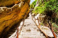 Huashan(Mountain Huashan)-Thousands of feet tall(Qiachichuang) Stock Photography