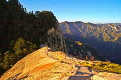 Huashan(Mountain Huashan)-The way from west peak to south peak Royalty Free Stock Photos