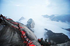 Huashan mountain  in the morning Stock Image