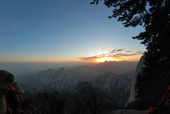 Huashan mountain  at sunrise Stock Images