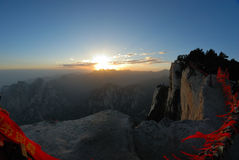Huashan mountain  at sunrise Royalty Free Stock Images