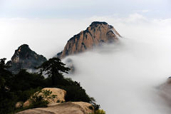 Huashan sea of clouds Royalty Free Stock Images