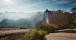 Huashan soluppgång Arkivfoto