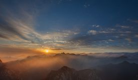 Huashan Sonnenaufgang Stockbilder