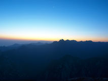 Huashan Sonnenaufgang Lizenzfreies Stockfoto