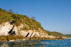 Huatulco coastline Mexico Stock Images