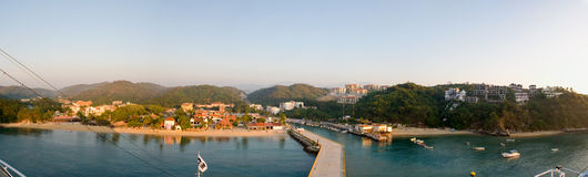 Huatulco Mexico panorama Royalty Free Stock Photos