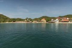 Huatulco van de ligplaats van het cruiseschip stock foto
