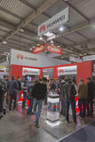 Huawei company booth at CEE 2015, the largest electronics trade show in Ukraine Royalty Free Stock Image