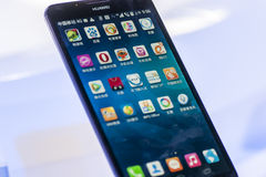 HUAWEI MATE 2, MOBILE WORLD CONGRESS 2014 Stock Photography