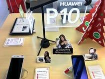 Huawei P10 στο κατάστημα πόλεων ΤΠ, Μπανγκόκ Στοκ Εικόνες