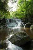 Huay杨瀑布,国家公园,班武里府,泰国 免版税库存照片