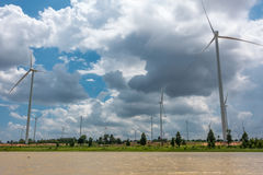 Huay Bong Wind Farm Fotos de archivo